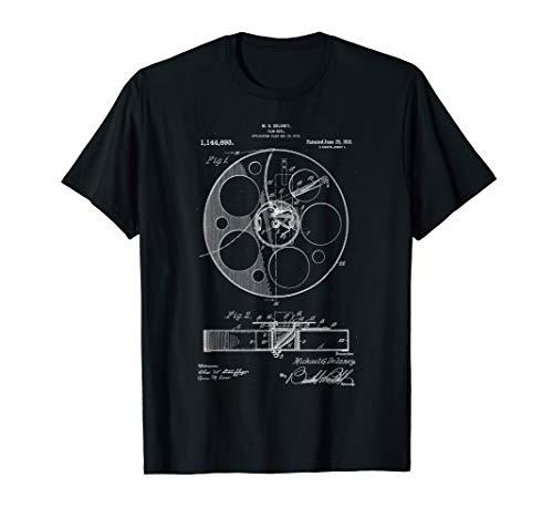 Filmrolle Patent Vintage Retro Filmemacher Geschenk, Film T-Shirt