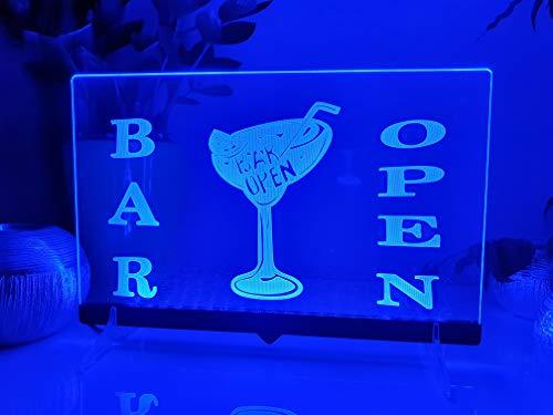 Bar Open Leuchtschild LED Neu Schild Rum Bier Neon/neonschild zum hinstellen