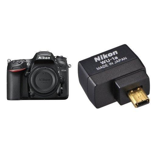 Nikon D7200 Digital SLR Camera Body (24.2 MP, Wi-Fi, NFC) 3.2-Inch LCD Screen