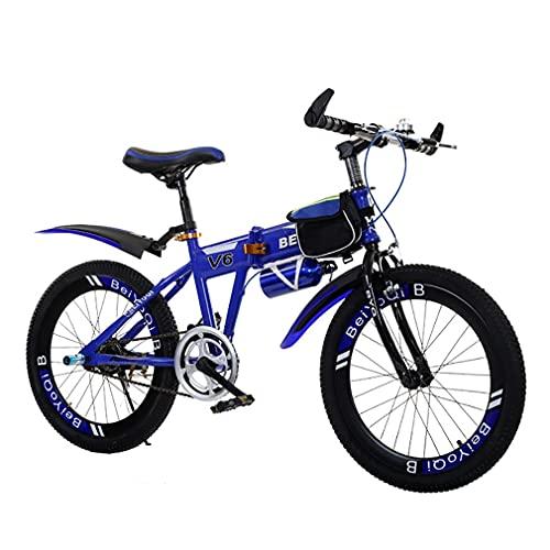 18/20/22 Pulgadas Bici Infantiles NiñOs Bicicleta MontañA Plegable Frenos Dobles Delanteros Y Traseros Bicicleta Velocidad úNica/Velocidad Variable Adecuada NiñOs Mayores 6 AñOs