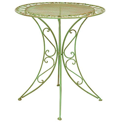 Mesa de jardín de Hierro Forjado Muebles de jardín Estilo Antiguo Verde