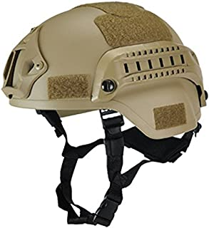 eamqrkt Casco táctico Militar Airsoft Gear Paintball Head Protector con visión Nocturna Sport Camera Mount