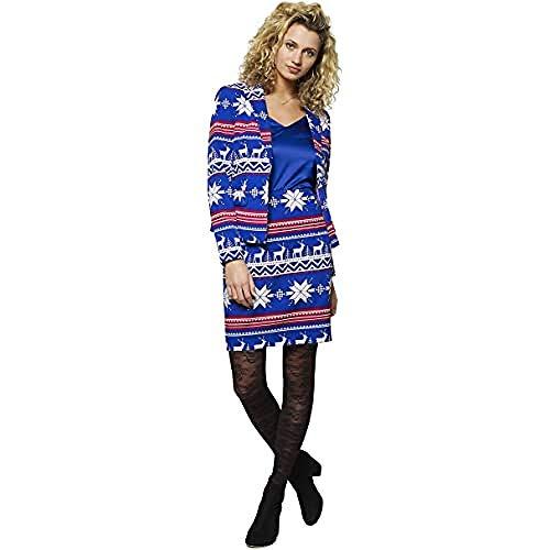 OppoSuits Disfraces de Navidad para Mujer - con Chaqueta y Falda