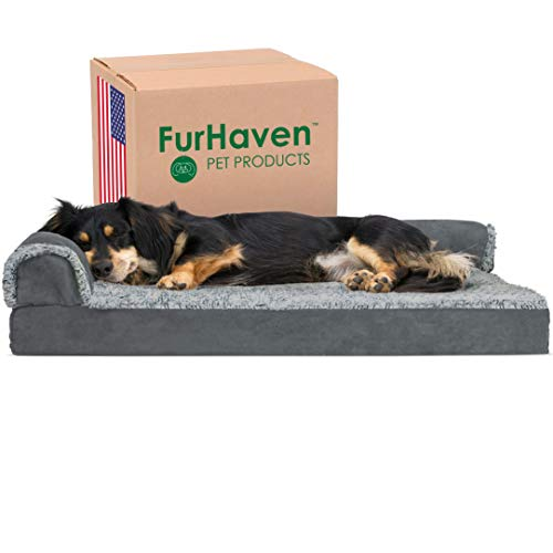 Furhaven Ergonomic Sofa-Style Dog Bed