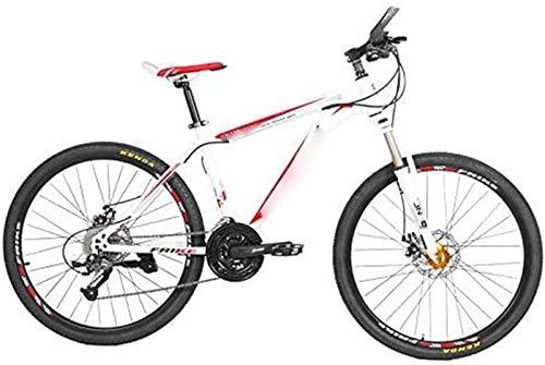 Brushes Bicicleta Blanco Adecuado para Trabajos al Aire Libre Descenso Frenos de amortiguamiento Mountain Adult Variable Velocidad 21 Velocidad