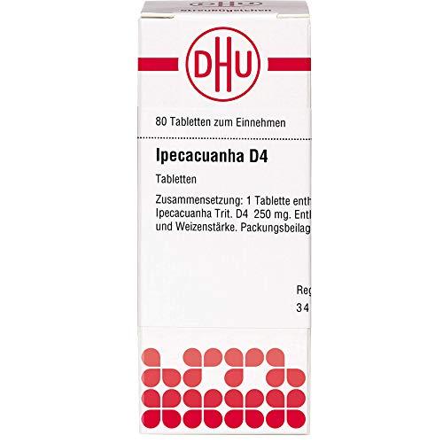 DHU Ipecacuanha D4 Tabletten, 80 St. Tabletten