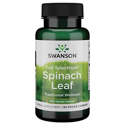 Swanson Full Spectrum Spinach Leaf 400 Milligrams 90 Veg Capsules