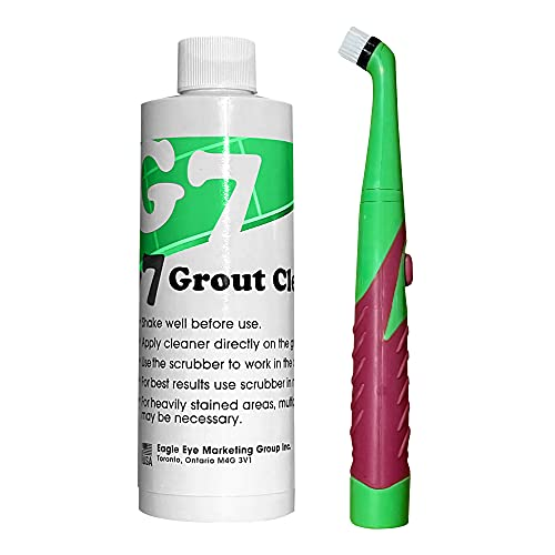 Grout Cleaner and Sonic Power Scrubber Brush Kit - Grout & Tile Bathroom Cleaner, Shower & Bathtub Cleaner