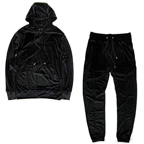 VFIVE UNFOUR Unisex Trainingsanzüge Samt Velours Sport Running Gym Hip Hop Hoodies Pants 2 Pack