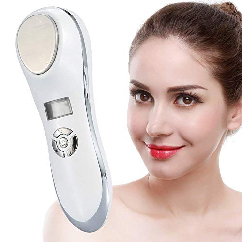 Mesotherapie Ionen Gesicht Schönheitsgerät mit Heiß-Kalt Galvanischer strom Kopf, ION Mikro-Strom Radio Frequenz Kosmetisches Gerät für Gesichtsbehandlung
