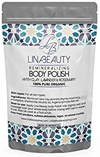 Rhassoul Clay Hair & Face & BODY Cleanser WITH 7 HERBS - Vegan Certified, Cruelty-Free, Organic & Eco Friendly Ghassoul Po...