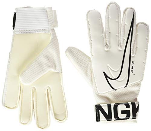 Nike Kinder NK GK Match JR-FA19 Soccer Gloves, White/(Black), 7