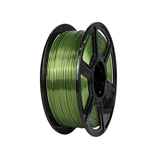 YANGDONG 1kg Seide-PLA-Thread, 1,75mm 3D-Drucker-Versorgungsmaterial, Seideglanz, Glatter Druck, Umweltfreundliches Ungiftiges Material (Color : Silk Green)