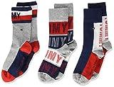 Tommy Hilfiger Th Kids Sock 3p Giftbox calcetines, tommy original, 27/30 (Pack de 3) para Niños