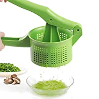 野菜脱水機 野菜果物絞り器 野菜水切り器 手押し式 ガーリック絞り みじん切り器 握りやすい 省力 環境に優しい 使いやすい 家庭用 業務用 料理ツール 水切りできる (グリーン)
