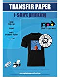PPD Inkjet Iron-On Dark T Shirt Transfers Paper 11x17' Pack of 10 Sheets (PPD-107-10)