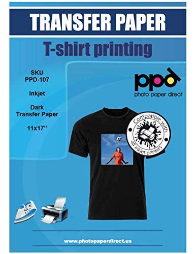 PPD Inkjet Iron-On Dark T Shirt Transfers Paper