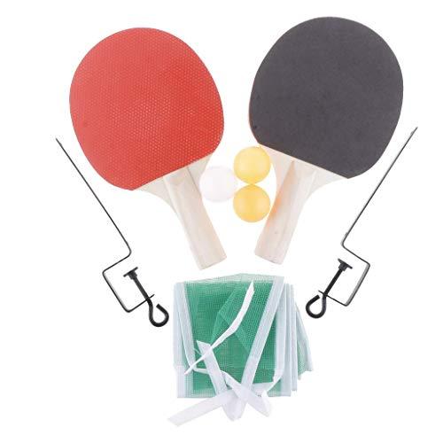 Inzopo Ping Pong Paddle - Juego de 2 raquetas de tenis de mesa, 3 pelotas de juego profesionales, bate de goma, juego de raqueta de entrenamiento y recreativa, color 2, 250 x 150 x 5 mm