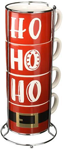 DEI Ceramic Mug, 6.25 x 6.25 x 13.25, Red/White