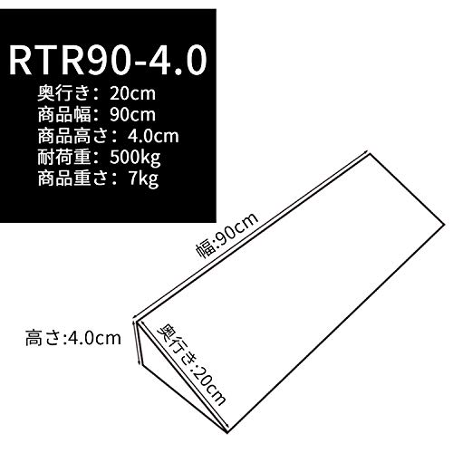 Ruedamann『段差解消スロープ室内用ラバースロープ(RTR90-4)』