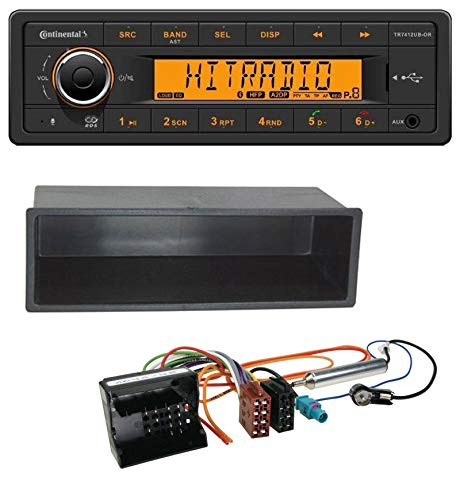 caraudio24 Continental TR7412UB-OR MP3 Bluetooth AUX USB Autoradio für Citroen Berlingo, C2, C3, Jumpy