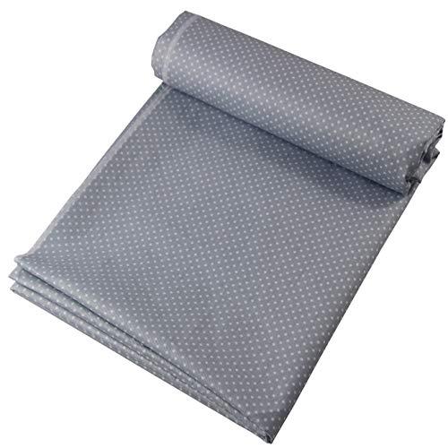 aufodara 1 Stück Stoff Meterware 1lfm 150CM breit, Reiner Baumwolle, Dekostoff Baumwollstoff zum Nähen, Baumwolltuch modische Muster (Grau - Weiß Runde)
