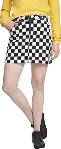 Urban Classics Mini-rok voor dames, met schaakplankpatroon, dames, check twill skirt, maat S