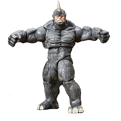 ZHAOHUIFANG Marvel Spider-Man Rhino Man Statue Anime-Cartoon-Charakter Model Collection Dekoration 20CM