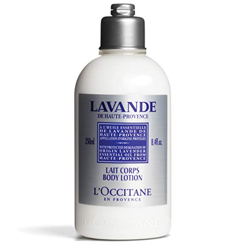 L'Occitane Lavender Body Lotion Relaxing Lavender and Shea Butter, 8.4 Fl Oz