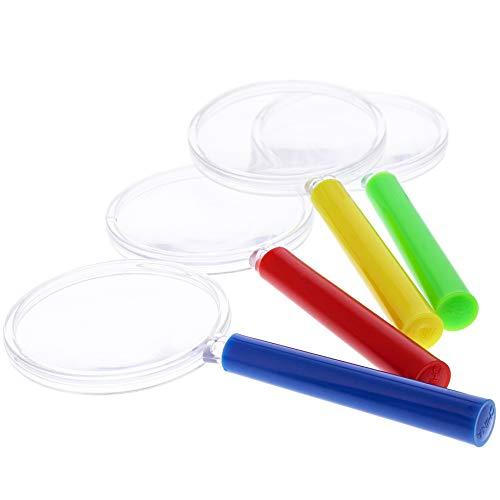 Lupa azul para niños, 4 colores (paquete de 48)