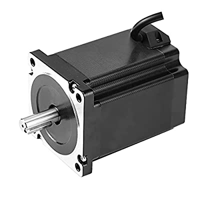 RTELLIGENT Nema 34 Stepper Motor Digital 4.9A 8.5N.M (1200 oz.in) 2 phase 86 * 86 * 118mm for Smart Automation/Laser/CNC Machine