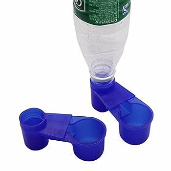 Lucky Farm 10 Pcs Soda Pop Bouteille d'eau Oiseau Buveur Coupe Printemps Quail Colombe Poulet Pigeon Abreuvoir (Bleu)