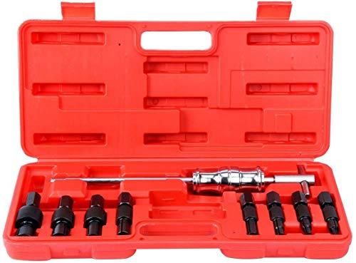 FreeTec 9-TLG Radlager Abzieher Set Blind Kugellager Abzieher Entferner Schiebehammer Innenbausatz 8-32mm (ROT)