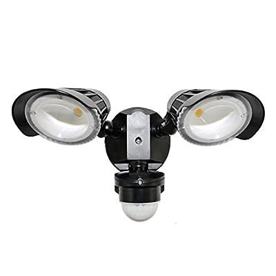 LED Dual Head Motion Sensor Security Light, Outdoor Fixture, 5000K Daylight, 23W, 2400 Lumens, 120V, Waterproof, ETL Certified, RoHS Compliant