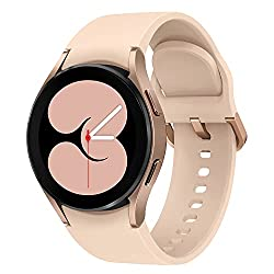 Samsung Galaxy Watch4, Runde Bluetooth Smartwatch, Wear OS, Fitnessuhr, Fitness-Tracker, 40 mm, Gold (Deutche Version)