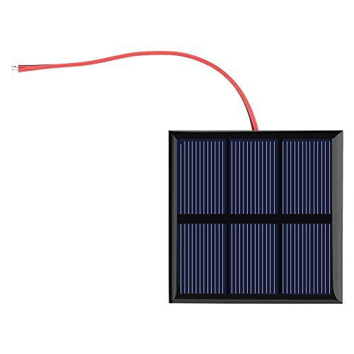 Garosa 0.7W 1.5V Sonnenkollektor, Mini tragbare Solarzelle DIY Power Module Ladegerät für 1,2 V Batterie mit Draht, 2,76x2,76 Zoll