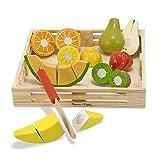 Melissa & Doug- Cutting Fruit Set Comida de Juguete de Madera, Multicolor (14021)