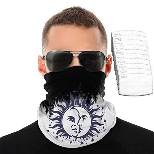 Ocult Symbol Moon and Sun - Toalla para la cara (transpirable, resistente al viento, con diseño de luna y sol