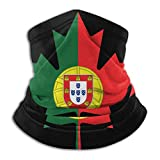 Duang Face Scarf Portugal Flag Canada Maple Leaf Pañuelos Deportivos Acogedor Cuello Polainas Calentador Pesca 30X25Cm Headwear Multifuncional Head...
