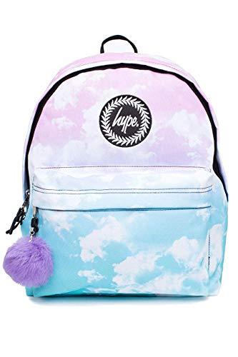 hype Schule Rucksäcke und Taschen - Neu Tasche Designs und Farben - 40 Auswahl - Pastell Wolken Troddel, One Size