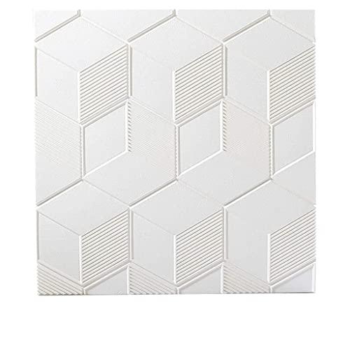 paneles para paredes interiores Espuma PE Pegatinas De Pared 3D De Pared Pegatinas Fondo De Pantalla Relief Albañilería |Reducción De Ruido |Habitación Sala Cocina Decoración 70 * 70cm Panel de pared