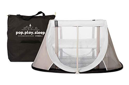 Cuna de Viaje para bebé Aeromoov plegable e instantánea con colchón configurable a dos alturas y bolsa de transporte (color gris arena)