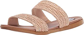 Steve Madden Women s Dual Flat Sandal Natural Raffia 8