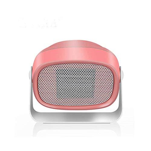RUIMA Mini-Heizung -PTC Keramik Heizkörper Startseite Heizung Schlaf Büro Energiespar Lightless Heizung Einstellbarer Winkel Entwurf (Color : Pink)