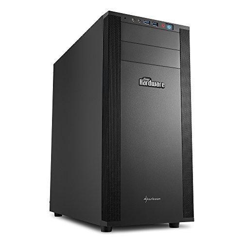 Sharkoon M25 Silent PCGH Edition PC Gehäuse (Gehäusedämmung, optimierter Airflow, extra leise Lüfter) schwarz