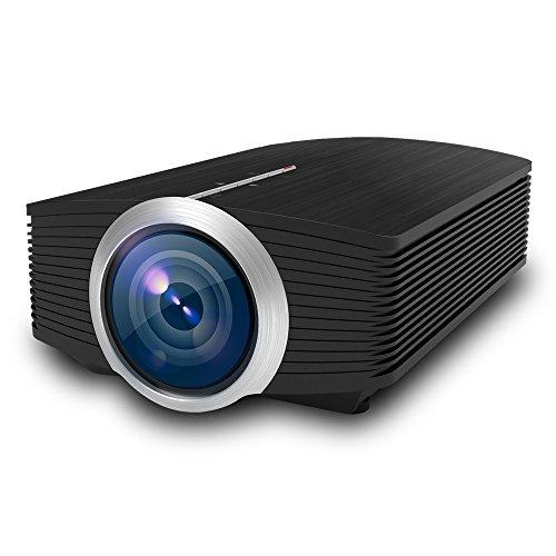 St.mary Mini proiettore, videoproiettore HD da 1200 Lumen Videoproiettore LCD da 140', 30.000 Ore di Durata della Lampadina a LED, Supporto 1080P HDMI VGA Av USB