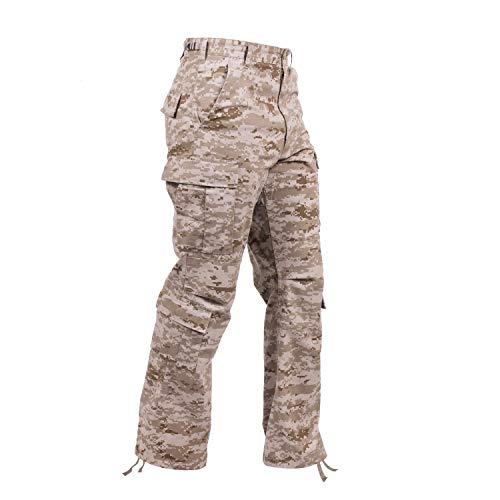 Rothco Vintage Camo Paratrooper Fatigue Pants, Desert Digital Camo, XL