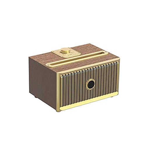 Retro Altavoz Bluetooth de madera clásico, sonido estéreo 3D Super High Sound Home Wireless, Man Women Femen Cumpleaños Regalo mei (Color : Dark)