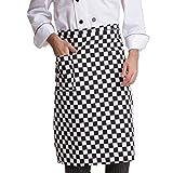 XWF Delantal de la Cintura con Bolsillos, Delantal de Cintura Larga para Hombres, Chef Medio Delantal para Cocina casera, camareros, artesanías, jardín, café/cómodo (Color : A)