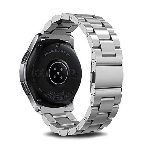Reemplazo de la Correa de Reloj, Correas de Reloj Pulsera para Reloj 46 mm 42 mm Correa de Pulsera de Acero Inoxidable Banda de Metal para Samsung Gear S3 Compatible con Frontier